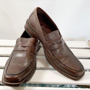 Johnston & Murphy Sheepskin Leather Penny Loafers